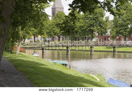Dutch City Lake Bridge