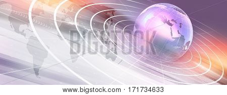 Graphical Modern Digital World News Background Technology Communication Background, 3d illustration