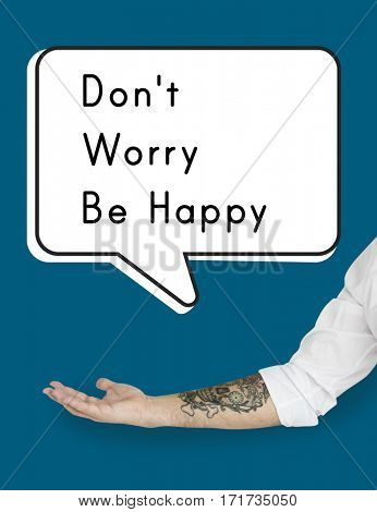 Don't Worry Be Happy Attitude Cheerful Relax