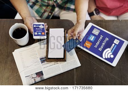 Internet Banking Transaction Financial Icon