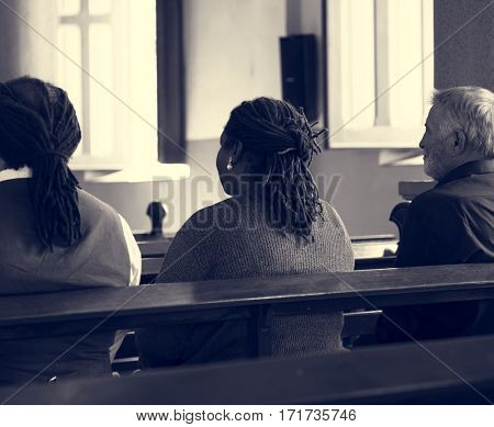 Church People Believe Faith Religious Praying
