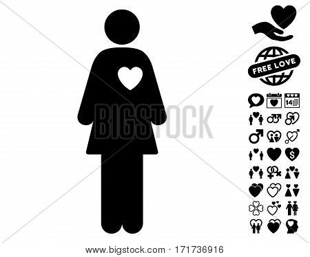 Mistress pictograph with bonus passion pictograph collection. Vector illustration style is flat iconic black symbols on white background.