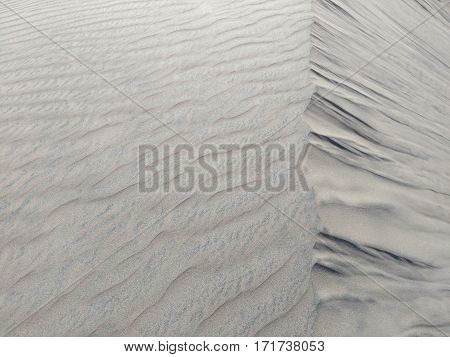 Silver sand - view from above natural background