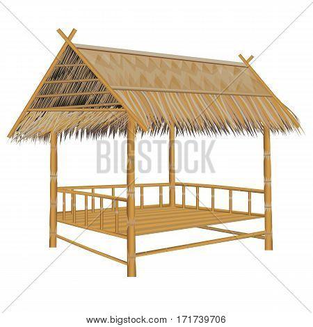 straw hut on white background vector design