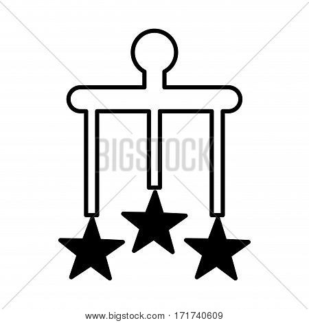 Mobile with stars icon vector illustration design