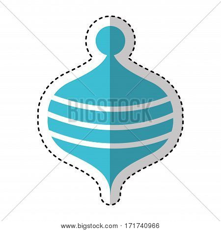 Toy spinning top icon vector illustration design