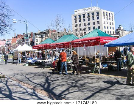 Washington DC, USA - March 11, 2007: Dupont circle farmer's market