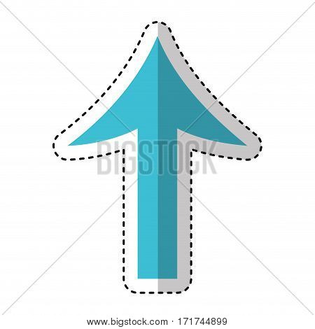 arrow sign isolated icon vector illustration design