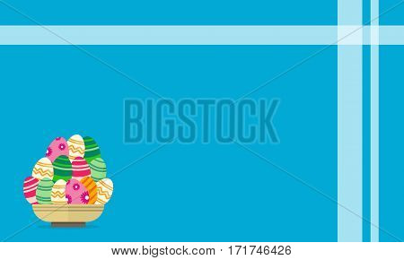 Vector art of easter egg backgrounds collection stock