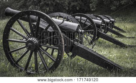 The old black artillery. Shot in Denmark