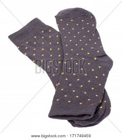 Men's black socks it is isolated on a white background