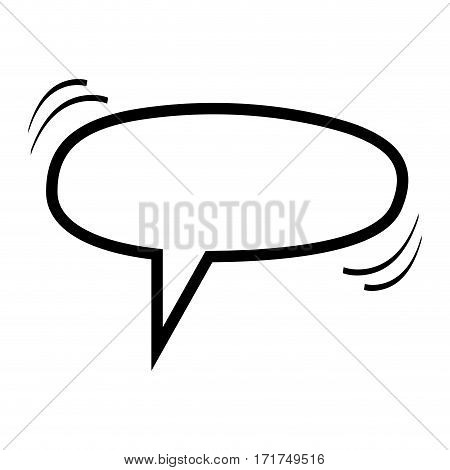 monochrome silhouette ellipse shape dialog box vector illustration
