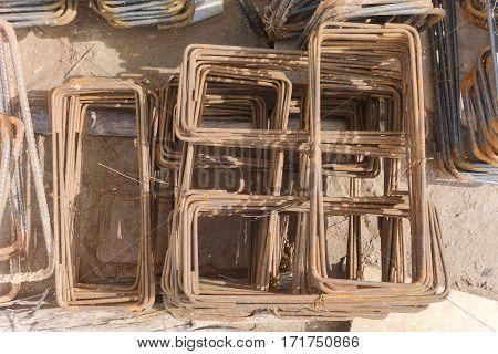 Steel Bending Work Prepare For Construction Work