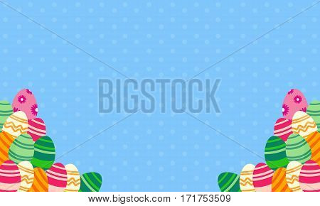 Greeting card of easter egg vector art collection stock