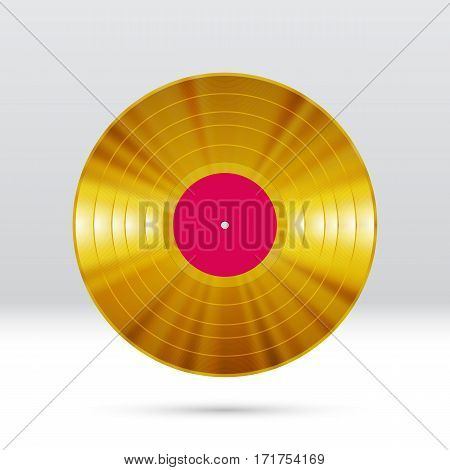 Vinyl disc 12 inch LP record with colorful grooves