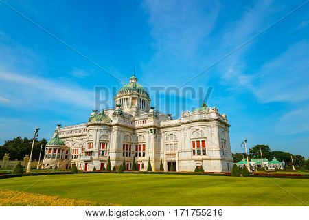 The Ananta Samakhom Throne Hall in Thai Royal Dusit Palace Bangkok Thailand