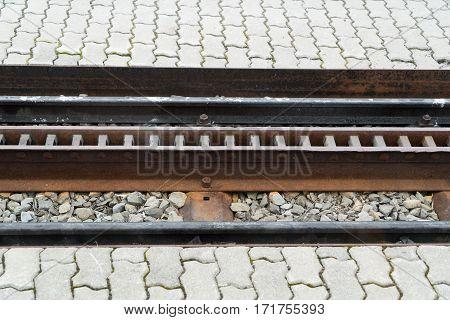 Cog railway at a station of Jungfraubahn in Switzerland
