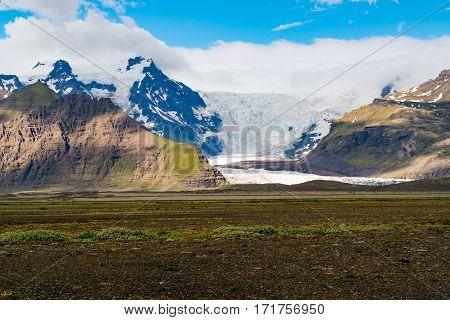 Vatnajokull Glacier or Vatna Glacier in Iceland