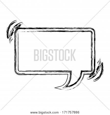 blurred silhouette rectangle shape dialog box vector illustration