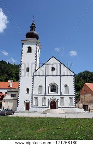 HRVATSKA KOSTAJNICA, CROATIA - JUNE 15: Parish Church of Saint Nicholas in Hrvatska Kostajnica, Croatia on June 15, 2010.