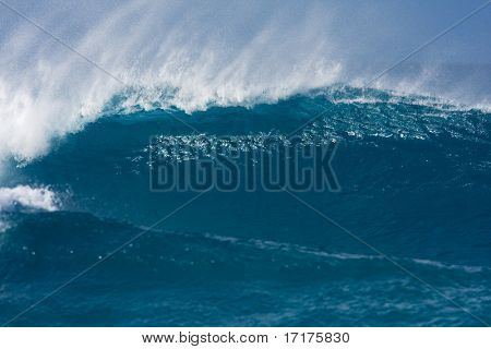 Powerful Blue Wave, Maui, Hawaii