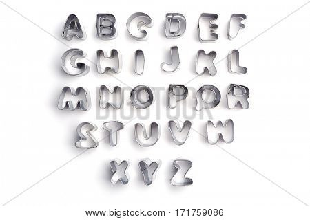 Cookie cutters isolated on white