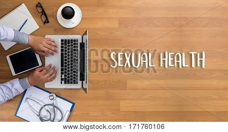 SEXUAL HEALTH Application Concept health care adult
