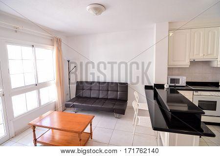 Internal View Of A Modern Living Room