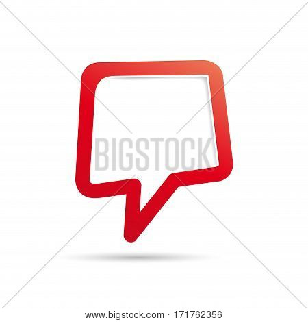 Vector cover speech in red, isolated illustration