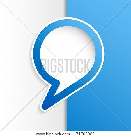 Vector cover speech in blue and white