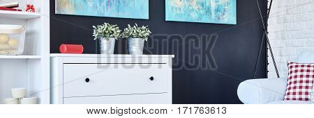 Commode By The Black Wall