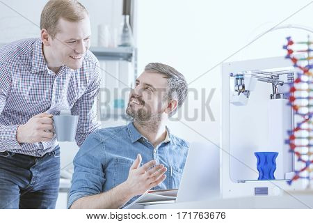 Scientists And 3D Printer