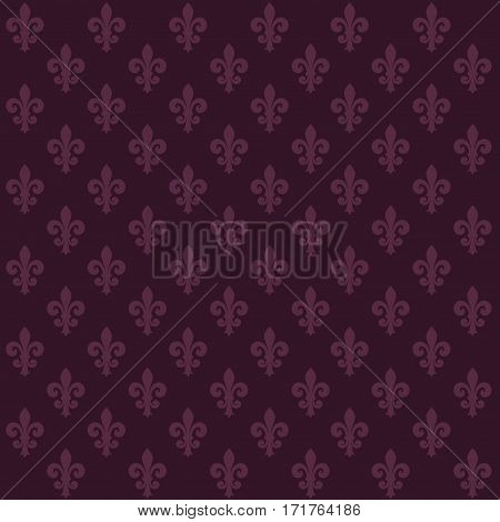 Vector background with purple lilies abstract shapes