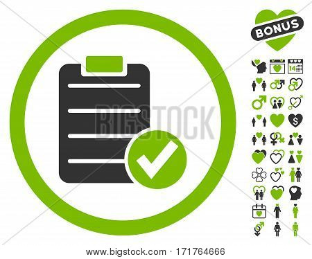 Apply Form pictograph with bonus amour pictures. Vector illustration style is flat iconic eco green and gray symbols on white background.