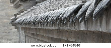 The eaves Ancient architecture,The roof of a house,Ancient architecture,architectural art
