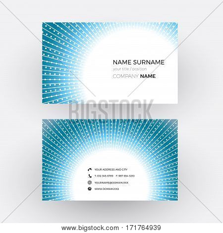 Vector abstract deep hole. Business card, isolated illustration