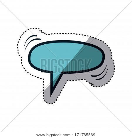 blue sticker ellipse shape dialog box vector illustration