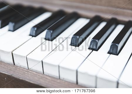 Upright Piano Keyboard Or Piano Keys