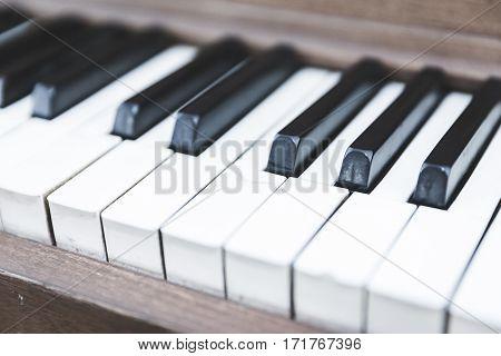 Upright Piano Keyboard Or Piano Keys