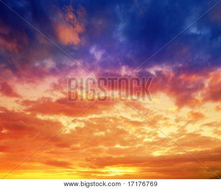 Vibrant Hawaiian Sunset Sky