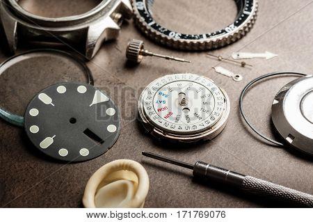 Part Of Luxury Watch