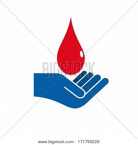 Vector sign blood donation concept, isolated illustration