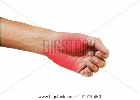 Inflame muscle on the hand ,Inflame muscle on the back hand