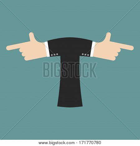 T Letter Businessman Hand Font. It Shows Finger Print. Arm Symbol Alphabet. Sign Of Abc