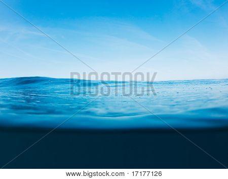 Blue Ocean Surface, Beautiful Seascape