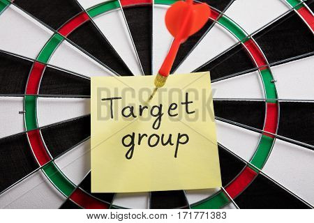 Close-up Of A Target Group Concept On Dartboard