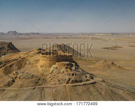 Tower of Silence zoroastrian burial place Yazd Iran