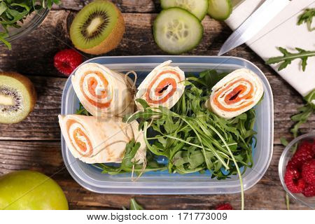 sandwich wrap-lunch box