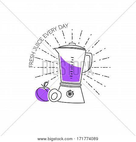 Blender Line Icon. Color Minimalist Element For Design Of Website, Company's Visit Card, Logo An Etc