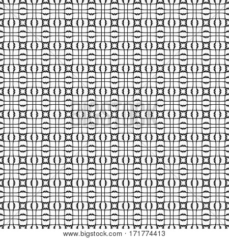 Black and white seamless pattern. Geometric vector pattern or website background. Vector illustration